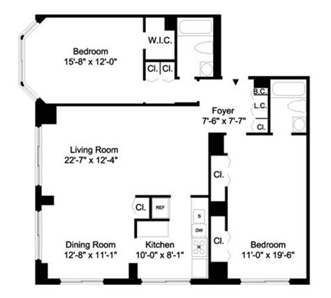 barclays center floor plan 1755 york avenue rentals the barclay apartments for