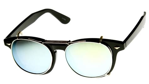 ban eyeglasses frame with polarized magnetic clip on