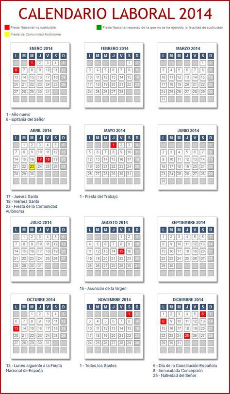 Calendario L 2014 Calendarios Stacyl