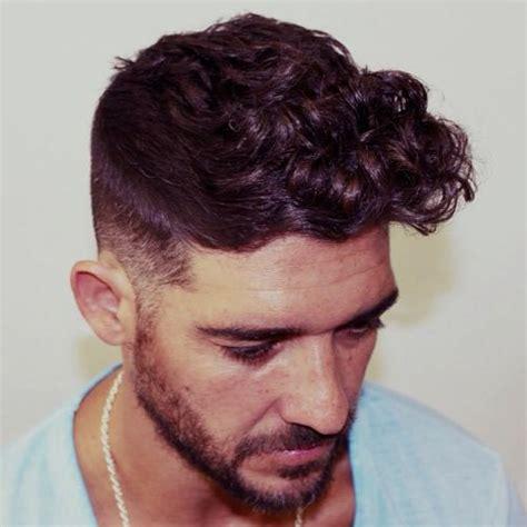 hi low curly hairdo pompadour fade curly hair www pixshark com images