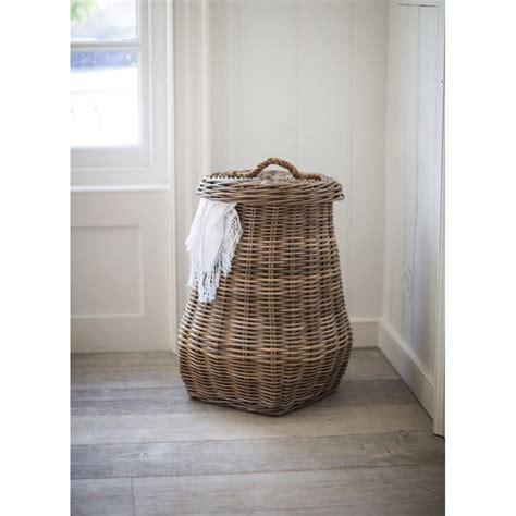Garden Trading Bembridge Laundry Basket Rattan Black Rattan Laundry