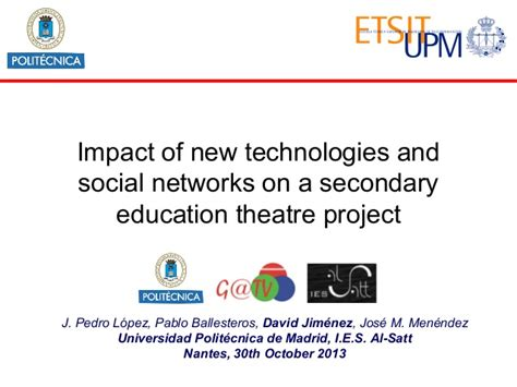 affect of modern technology on training technology impact of new technologies and social network on a