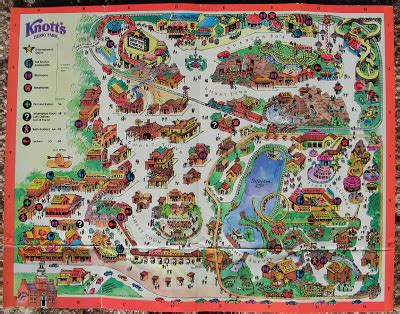 knotts berry farm map newsplusnotes february 2007