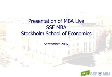 Sse Mba by Sse Mba Mba Live