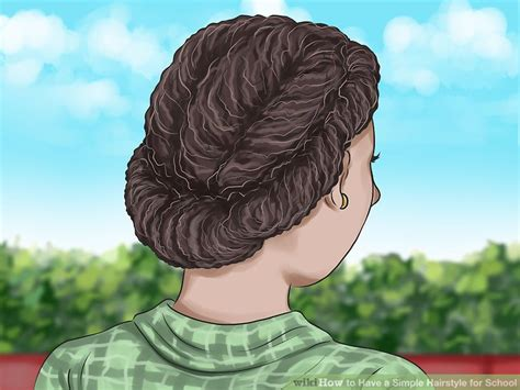 3 ways to a simple hairstyle for school wikihow