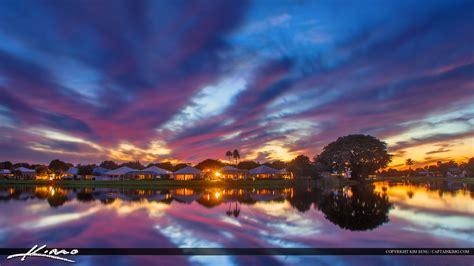 lake katherine tree lighting sunset the lake in palm gardens hdr