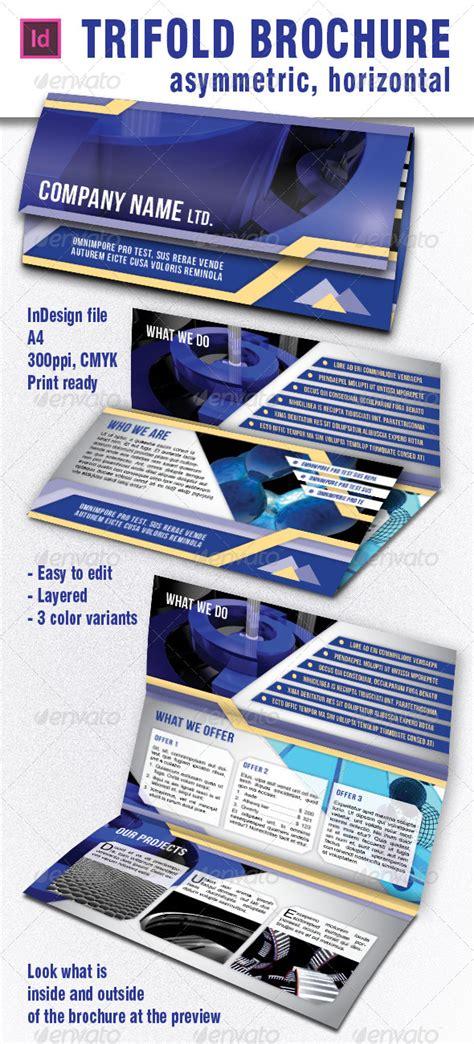 asymmetric trifold brochure horizontal by lumberjackbg