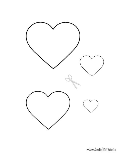 printable valentine stencils how to craft valentine hearts stencils hellokids com