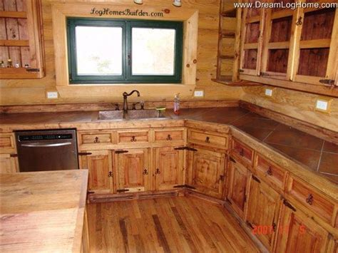 Log Home Kitchen Cabinets Modular Homes Illinois Photos