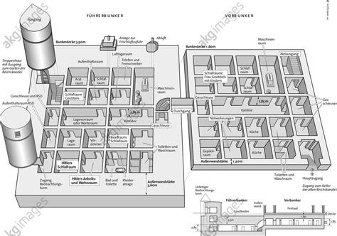 reich chancellery floor plan akg images floor plan of the f 252 hrerbunker