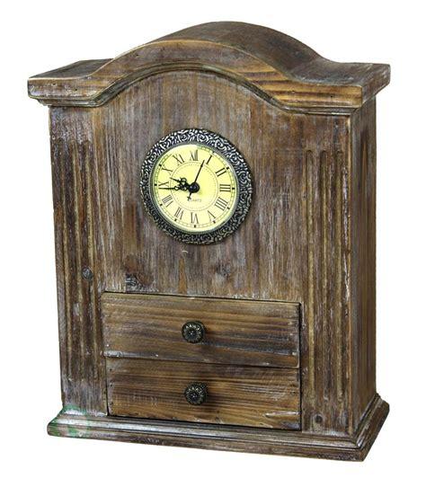 desk clock new vintiquewise vintage style wooden desk clock qi003089