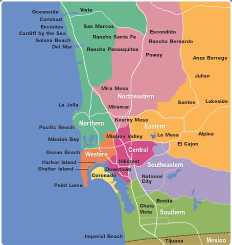 San Diego Area Map by San Diego Computer Service Area Coverage