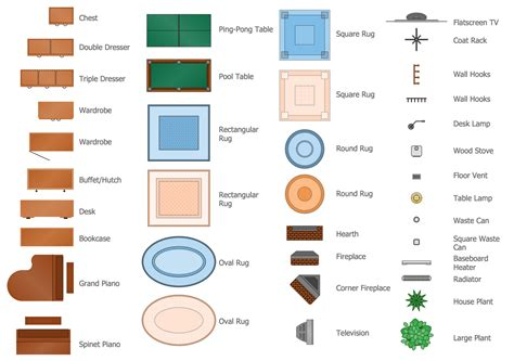 Floor Plan Elements by Floor Plans Solution Conceptdraw Com