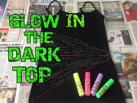 glow in the paint t shirt diy how to make your own glow in the top t shirt