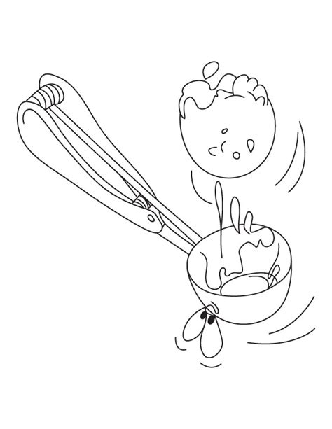 coloring pages ice cream scoops ice cream scoop coloring page download free ice cream