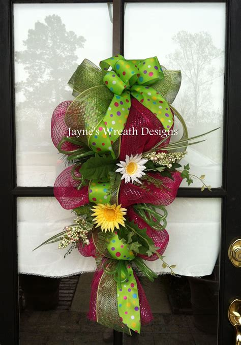 door swag spring easter christmas crafts christmas