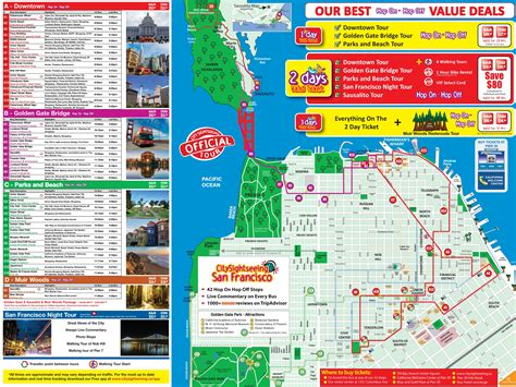 san francisco map attractions map of san francisco tourist attractions michigan map