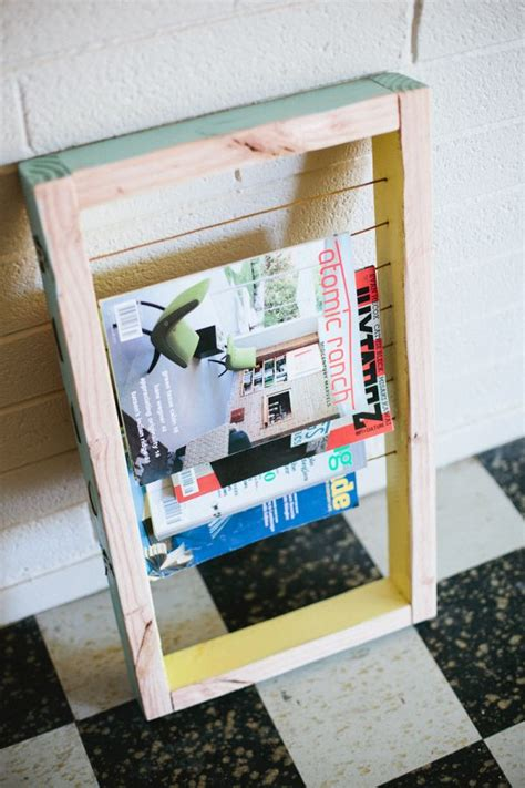 diy magazine holder for bathroom 20 diy magazine rack projects