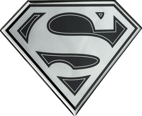 superman superman logo black and chrome lensed fan