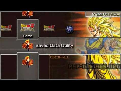psp themes not working psp theme special dragonball psp themes net youtube