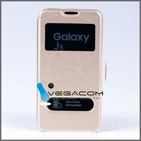 Ume Samsung Galaxy J5 J500 Flipcase Flipshel Casing Leather flip slim cover tpu window view samsung galaxy j5 sm j500 gold 35695 vegacom