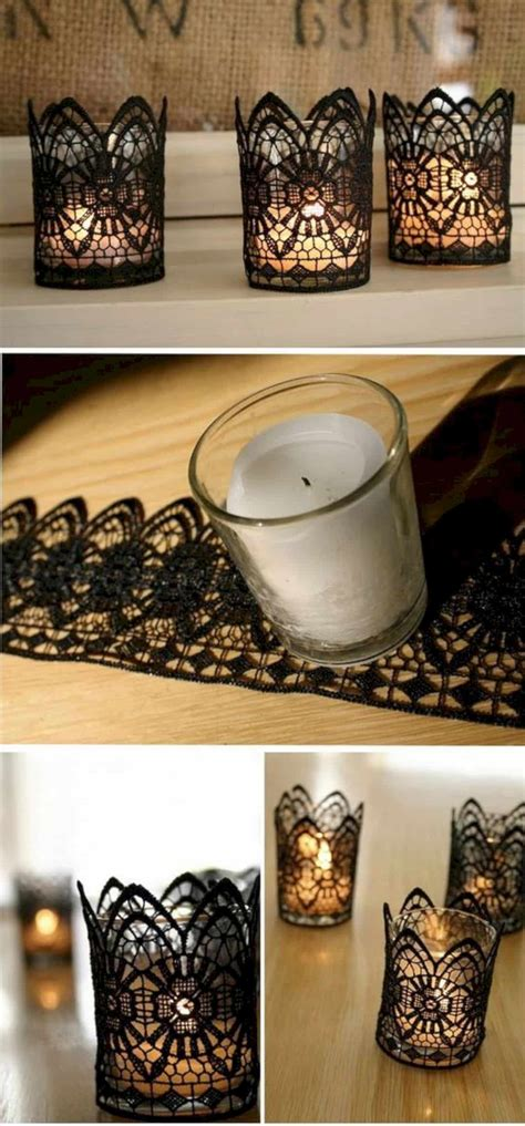 diy candle holders  decorate  home