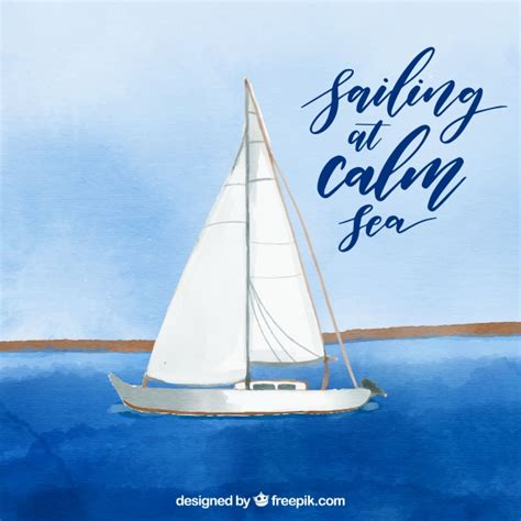 boat pictures free download watercolor boat background on the sea vector free download