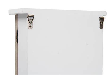 wall mounted key cabinet wooden wooden key cabinet glass door storage box accessory hooks