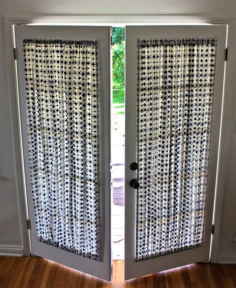 french door panel curtains diy french door curtain panel tutorial pretty prudent