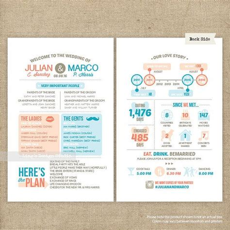 wedding infographic template 17 best images about wedding programs on