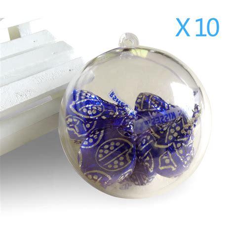 100mm clearfillable bauble 20pcs 10cm baubles transparent fillable tree decoration ornaments bauble clear
