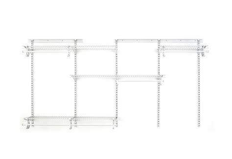 closetmaid superslide 5 ft to closetmaid 2897 shelftrack 5 to 8 foot closet organizer
