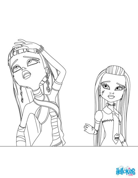 print out monster high coloring pages hellokids com