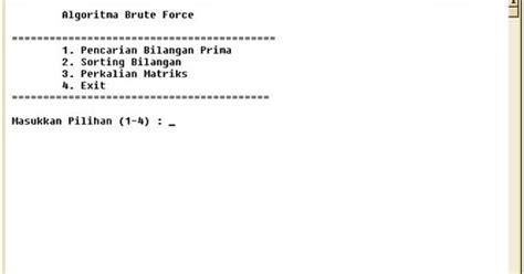 pengertian layout halaman halaman usang pengertian algoritma brute force dan contoh