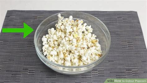 how to color popcorn 3 ways to colour popcorn wikihow