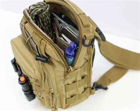 tactical sling bag tactical sling bag with molle system fight or flight