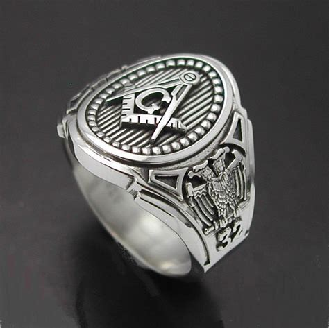 scottish rite 32nd degree eagle ring in sterling