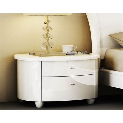 Aztec Bedroom Furniture Birlea Azt Nswht Aztec White Wooden Nightstand