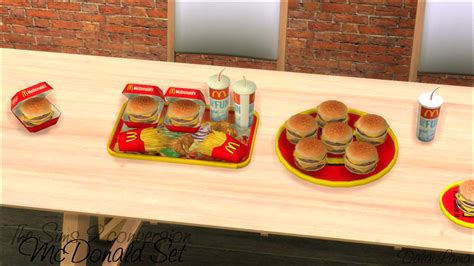 sims 4 food cc my sims 4 blog ts2 daislia mcdonald s conversions by