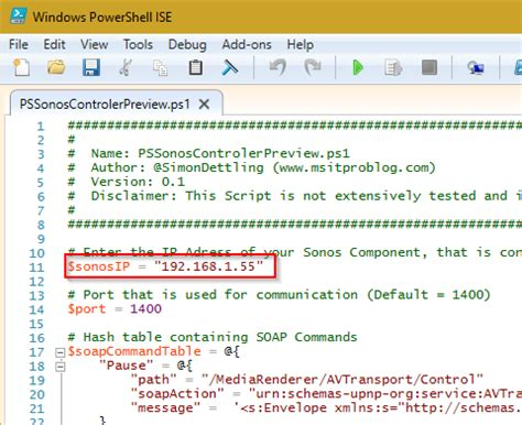 powershell comment section hacking sonos using windows powershell msitproblog