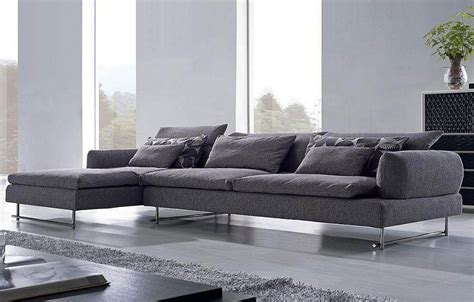 large sectional sofa couches in grey modern sectional