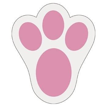 bunny paw print for template other seasonal diy and