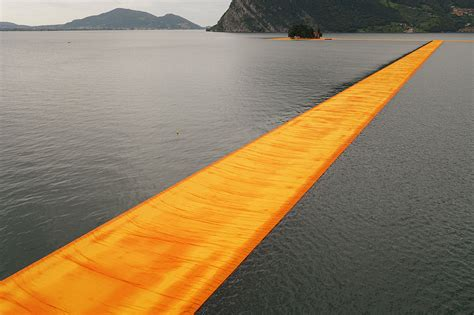 floating piers walking on the water with christo and jean claude s