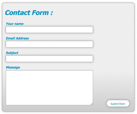 design html form using css style web forms using css