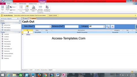 access invoice database template free ms access database invoice tracking template access