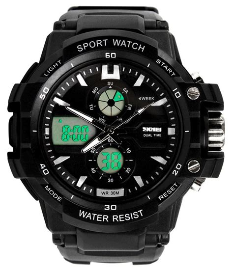 skmei black analog digital sports price in india