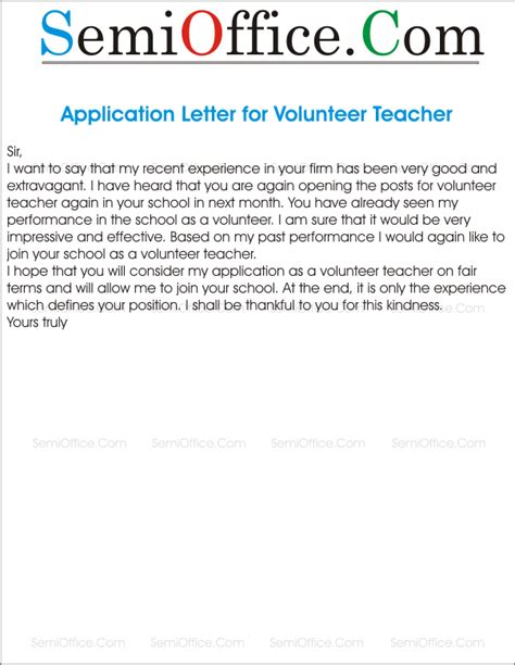 re application letter for application for re engagement as a volunteer