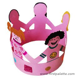 craft of crown crown of friends craft kids crafts firstpalette com