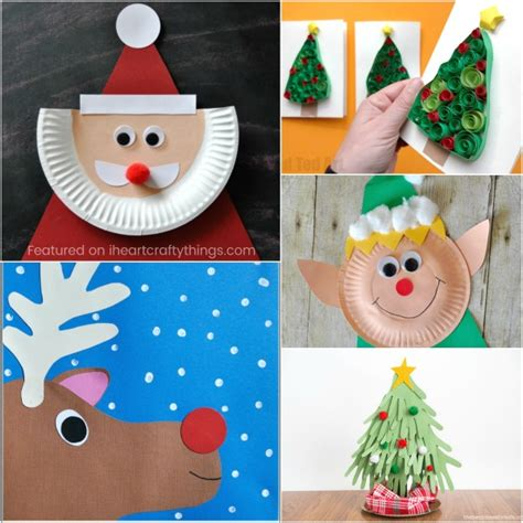 christmas arts and crafts with paper plates 4k