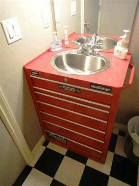 man cave bathroom ideas awesome quot man cave quot bathroom vanity recycle repurpose